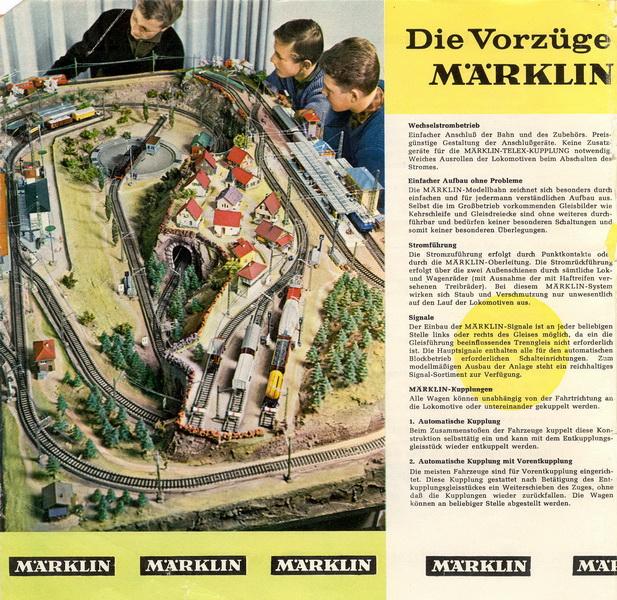 Auszug Märklin Katalog 1962/63