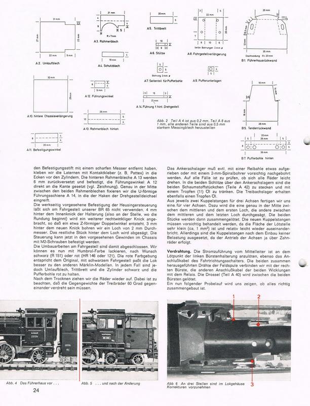H0 Modell BR 65 aus Märklin-Teilen