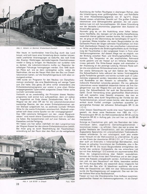Dampflokomotiven Baureihe BR 65