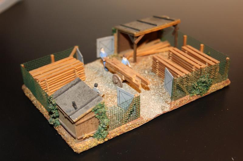 Preiser Holzlager 1051