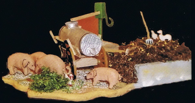 Preiser Ländiche Szene mit Schweinen 1067
