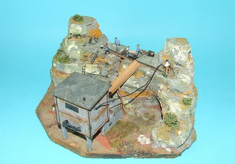 Steinbruch mit Schotterwerk 1017, Fa. Preiser