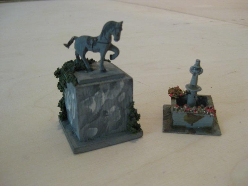 Preiser 520 Marktbrunnen, Preiser 549 Reiterdenkmal