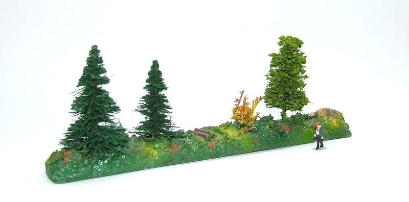 Fa. Noch gerades Landschaftsstück