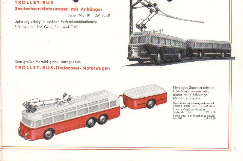 Eheim Trolley-Bus Typen