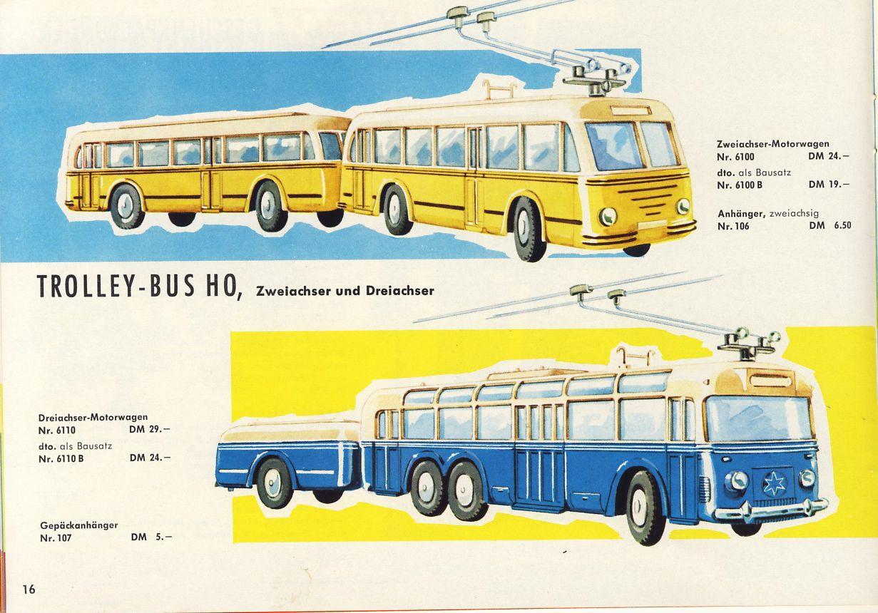 O-Bus Typen, Büssing und Henschel