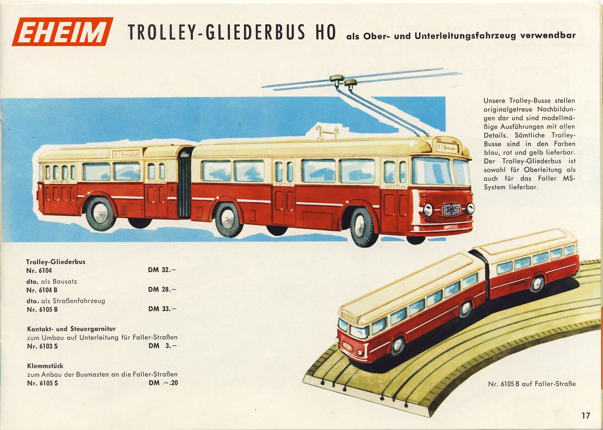 Brawa Trolley-Gliederbus