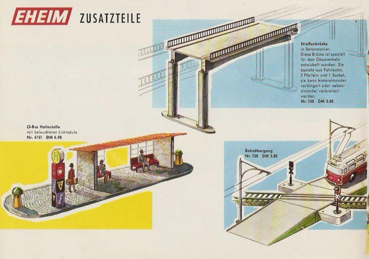 Eheim Zusatzteile Brawa Katalog 1968/69