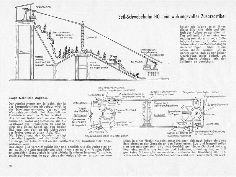 Eheim Betriebsanleitung Seil-Schwebebahn
