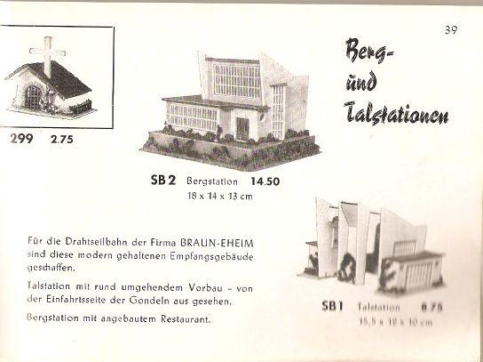 Faller Katalog 1955, Seite 39