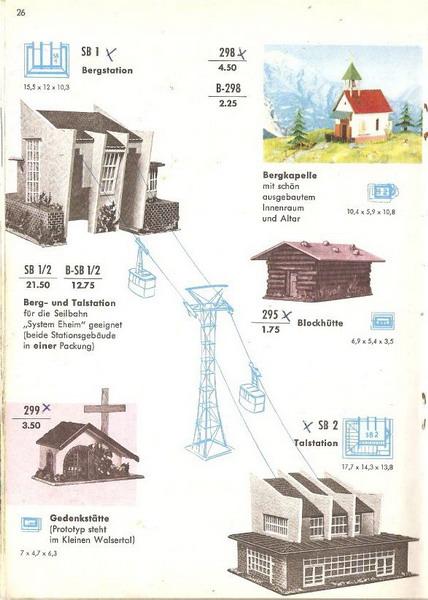 Faller Katalog 1960-61, Seite 26
