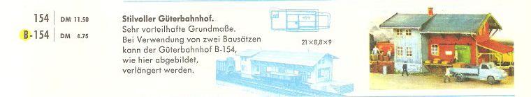 Faller Güterbahnhof Talhausen B-154