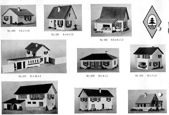 Faller Modelle 257 und 258, Katalog 1952
