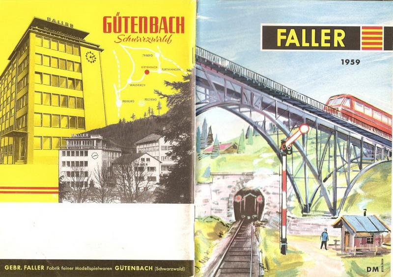 Deckblatt Faller Katalog 1959