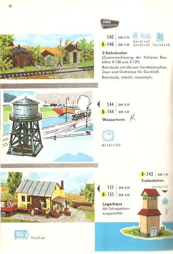 Faller Drei Bahnbuden B-140