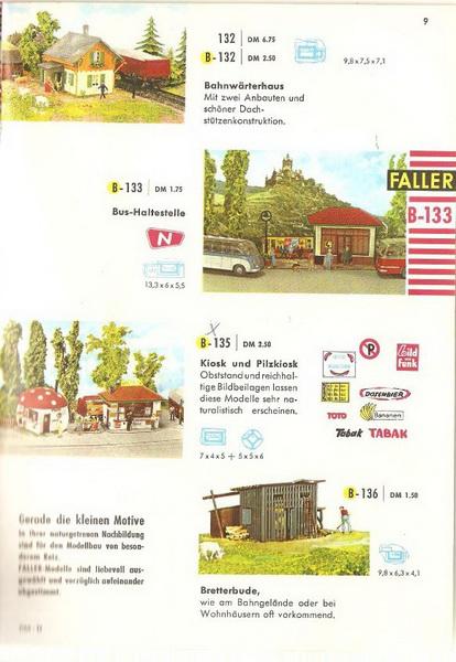 Faller Kiosk und Pilz-Kiosk B-135