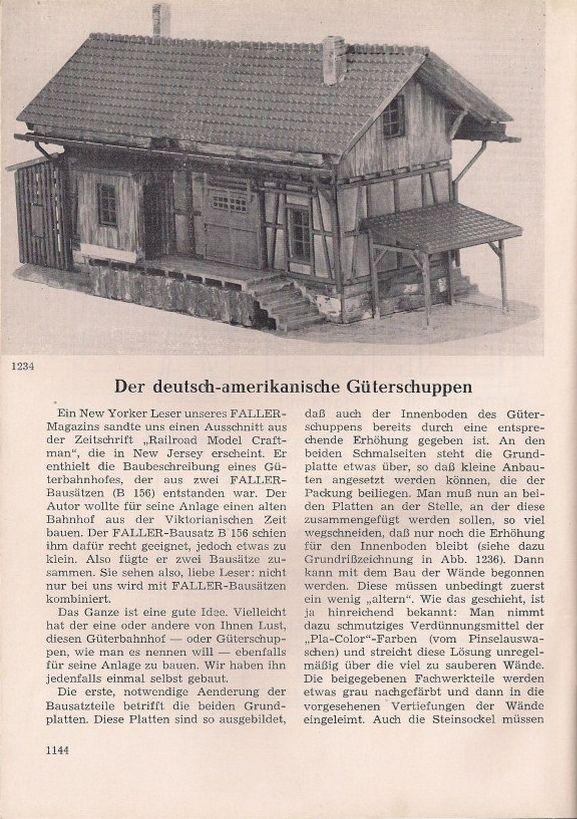 Faller Kleiner Güterschuppen B-156
