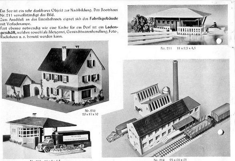 Faller Ladengeschäft 216, Faller Katalog 1952