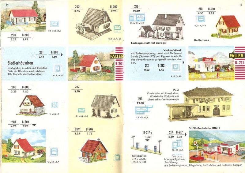 Faller Ladengeschäft 216, Faller Katalog 1960