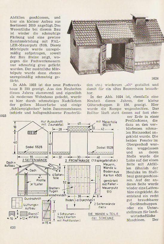 Faller Magazin Gehöft B-276a und 276b