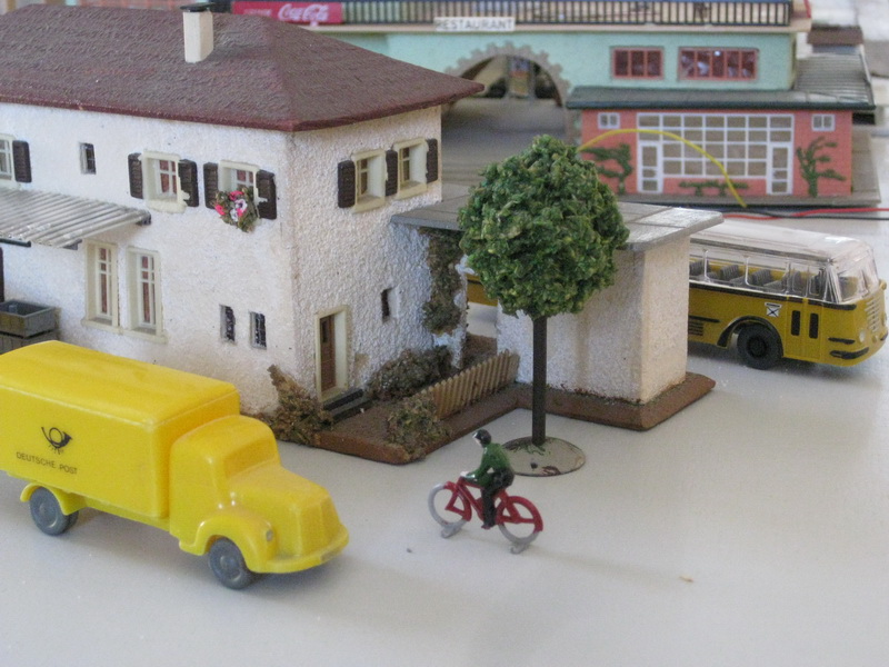Faller Postamt 213, 1953/54, Fertigmodell