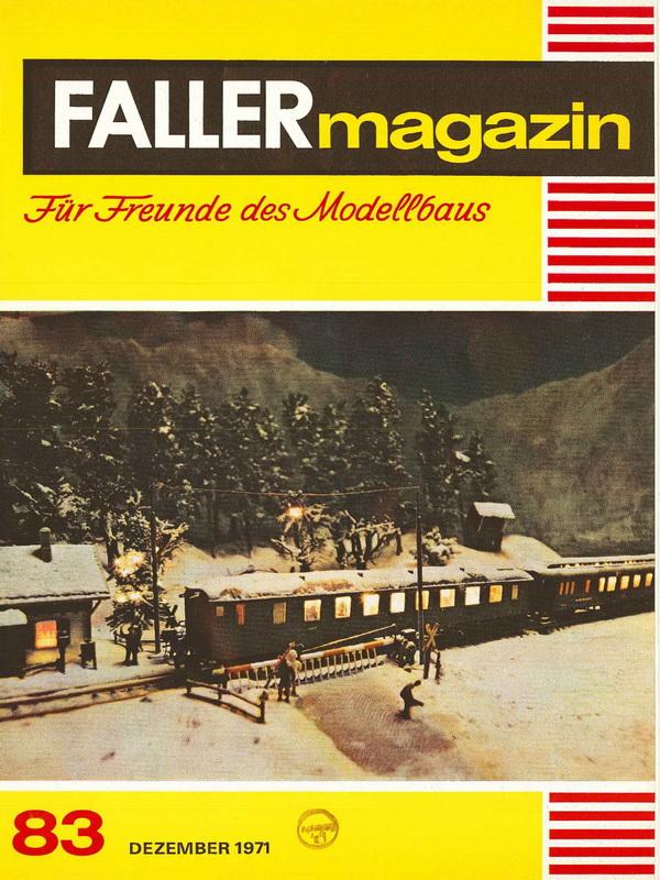 Deckblatt Faller Magazin 83, 1971