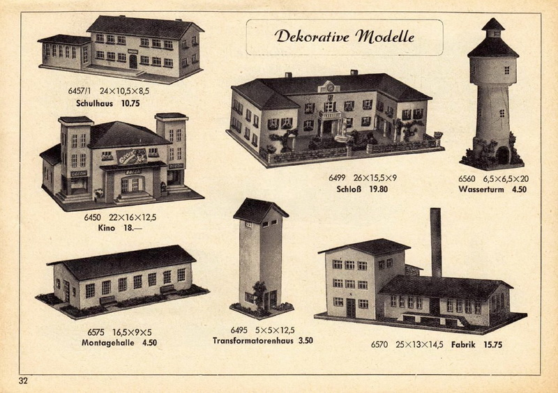 Kibri Katalog 1956 mit RS - Spitaler Sortiment