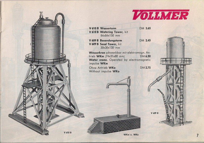 Vollmer Katalog 1958, Wasserturm V610B