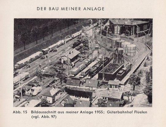 Otto Hübchen - Die Modell-Eisenbahn in der Landschaft mit Faller Wasserturm