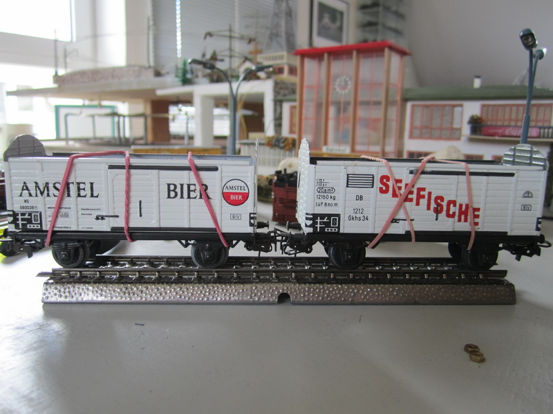 Umbau Fleischmann Blech Güterwagen