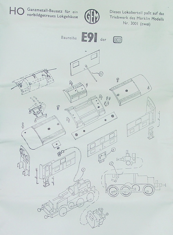 GEM Model Railways H0 BR E 91 der DB