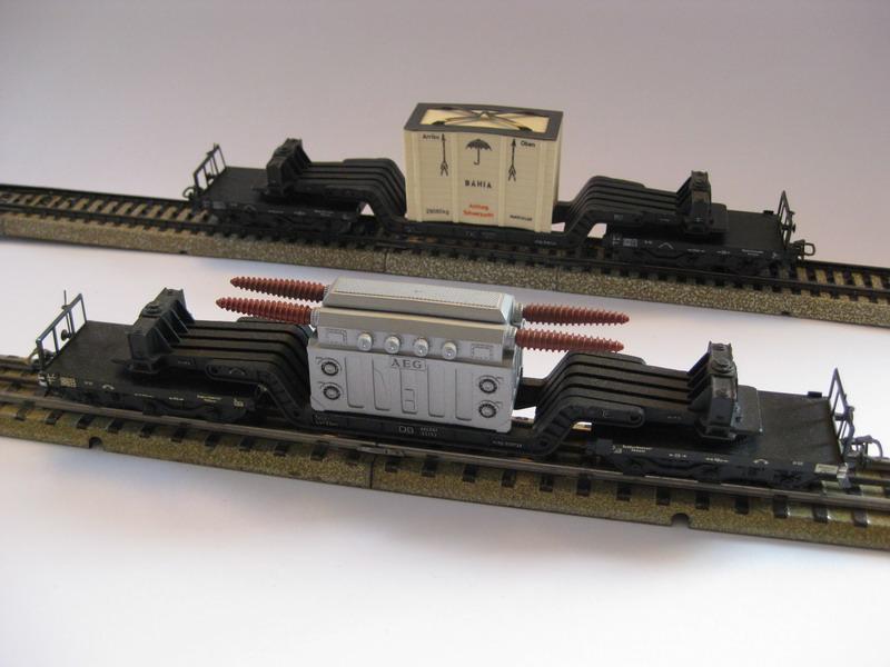Märklin H0 Tiefladewagen 4617.1 und 4618.2