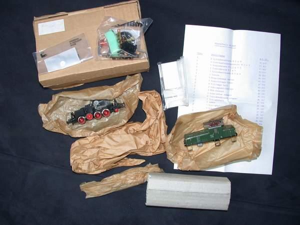 Märklin Teilesatz 3900, BR E 63 grün
