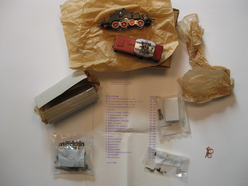 Märklin Teilesatz 3901