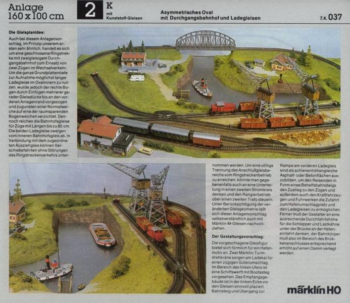 Anlage 2 K, Märklin H0 Gleisanlagen 0700