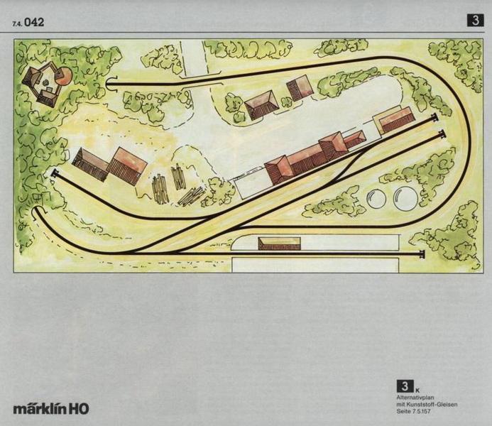 Anlage 3 M, Märklin H0 Gleisanlagen 0700