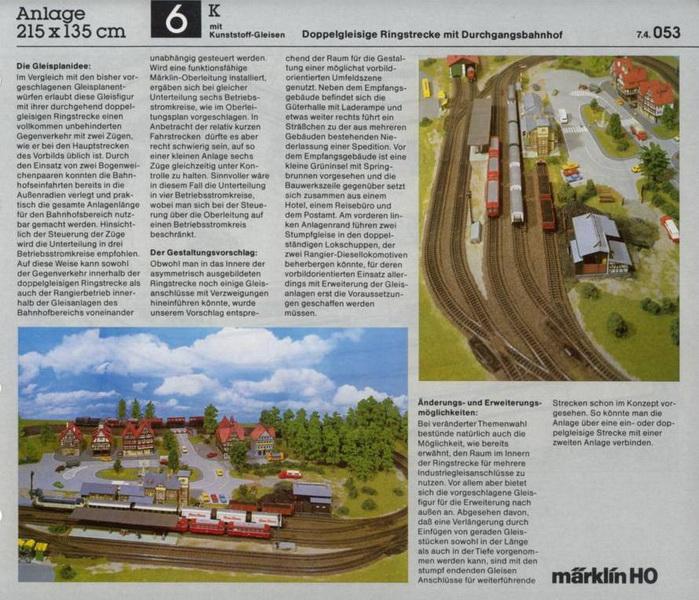 Anlage 6 K, Märklin H0 Gleisanlagen 0700