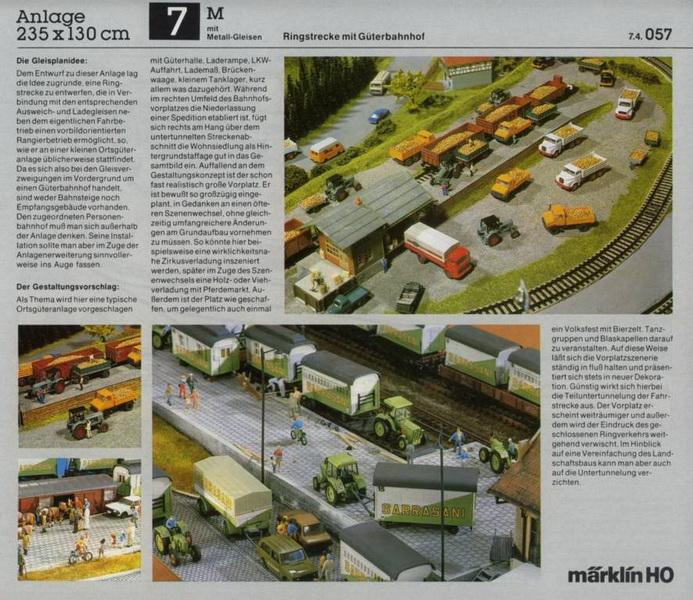 Anlage 7 M, Märklin H0 Gleisanlagen 0700