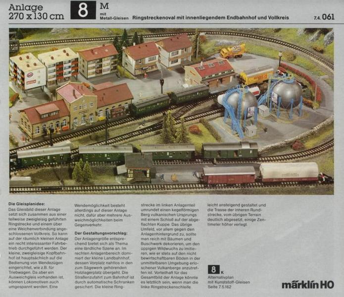Anlage 8 M, Märklin H0 Gleisanlagen 0700