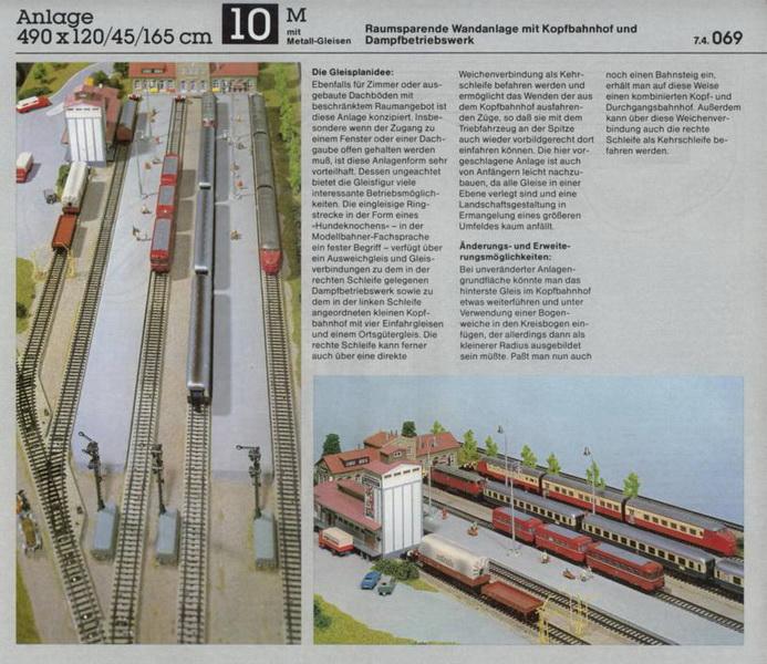 Anlage 10 M, Märklin H0 Gleisanlagen 0700