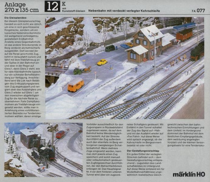 Anlage 12 K, Märklin H0 Gleisanlagen 0700