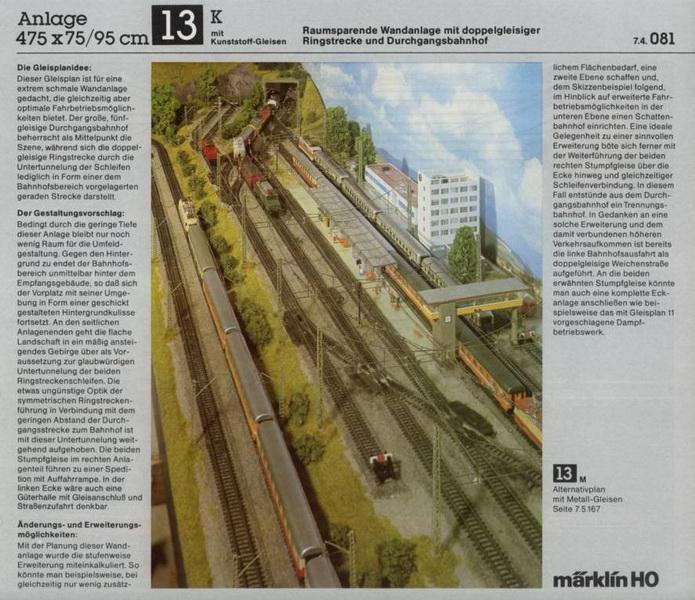 Anlage 13 K, Märklin H0 Gleisanlagen 0700