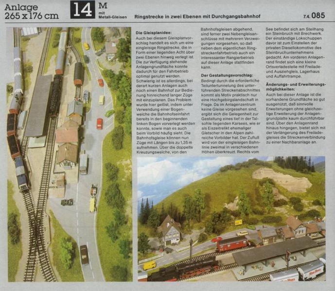 Anlage 14 M, Märklin H0 Gleisanlagen 0700