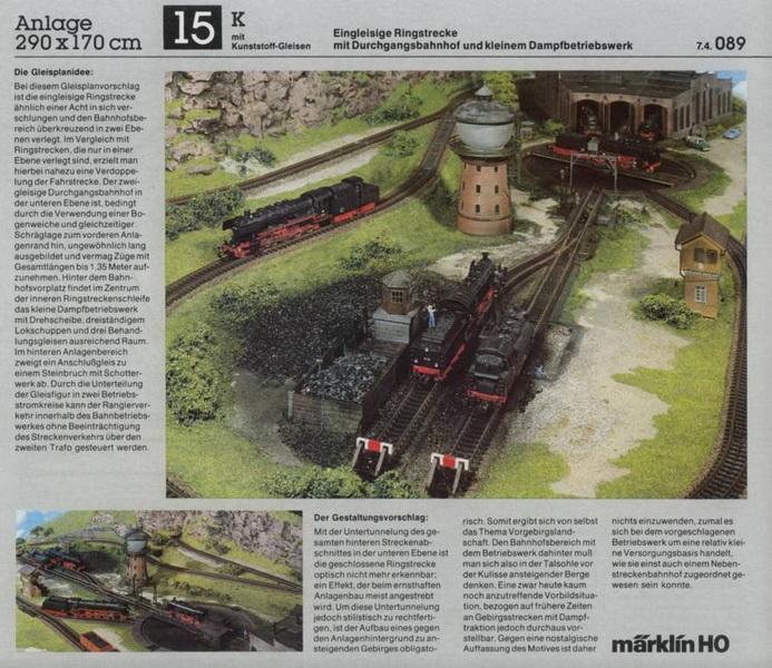 Anlage 15 K, Märklin H0 Gleisanlagen 0700