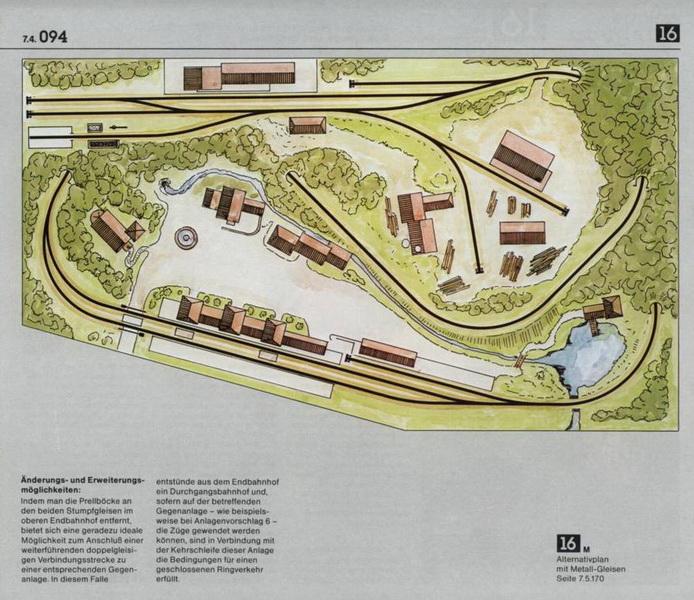Anlage 16 K, Märklin H0 Gleisanlagen 0700
