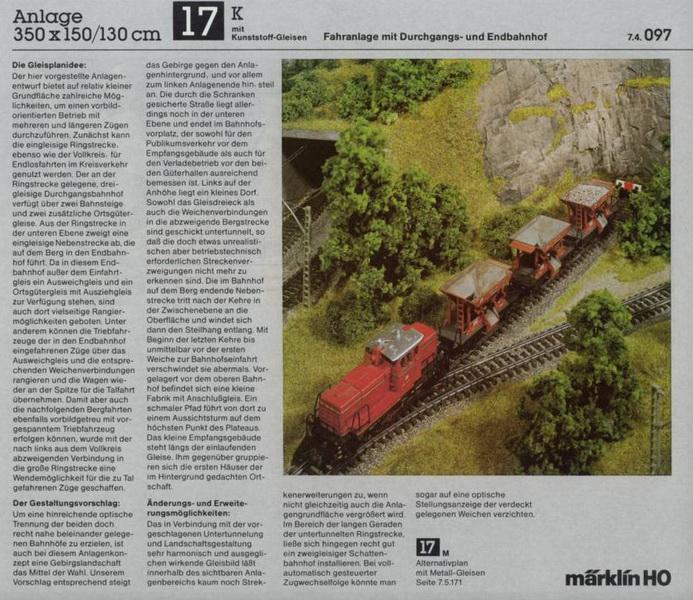 Anlage 17 K, Märklin H0 Gleisanlagen 0700