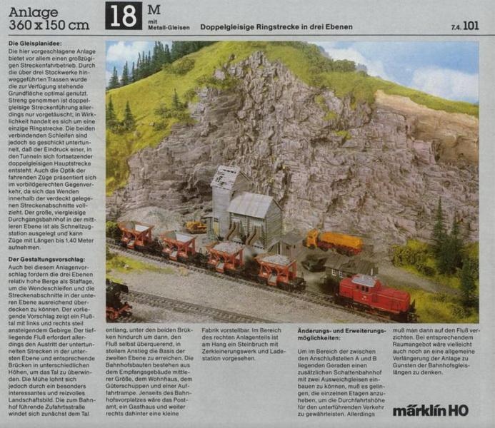 Anlage 18 M, Märklin H0 Gleisanlagen 0700