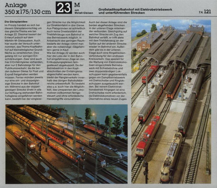 Anlage 23 M, Märklin H0 Gleisanlagen 0700