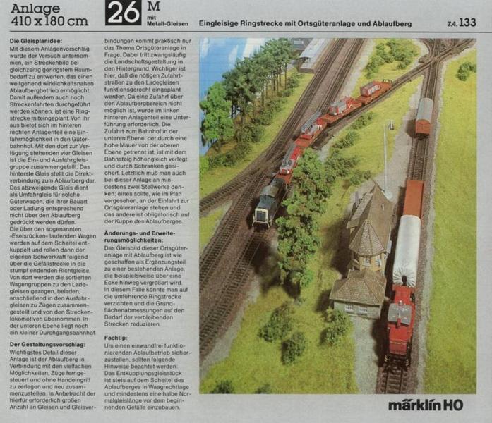 Anlage 26 M, Märklin H0 Gleisanlagen 0700