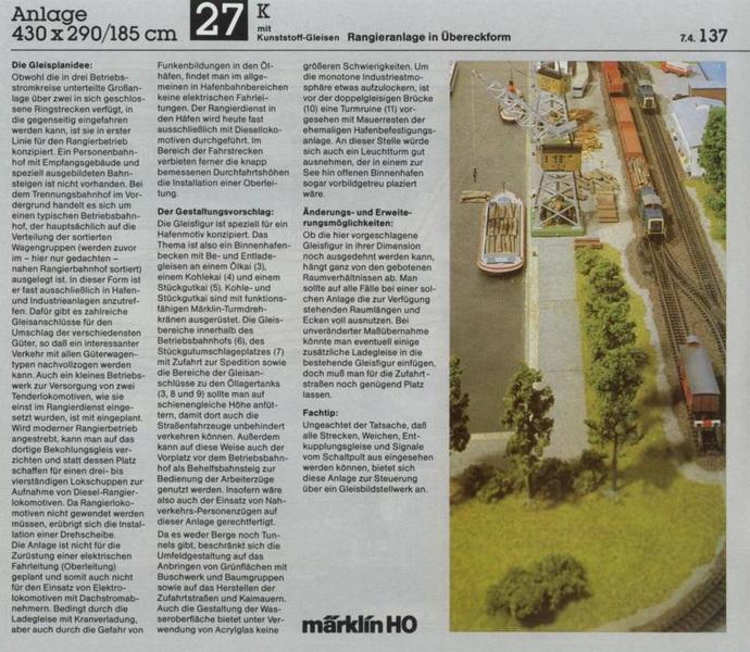 Anlage 27 K, Märklin H0 Gleisanlagen 0700